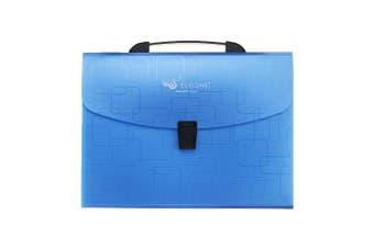 F8879 A4 File Folder Organ Bag Multilayer File Bag Multi-functional Business Conference Document Holder Desktop Paper File Organizer