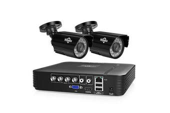 HD 4CH 1080N 5 in 1 AHD DVR Kit CCTV System 2pcs 720P AHD Waterproof IR Camera P2P Security Surveillance Set