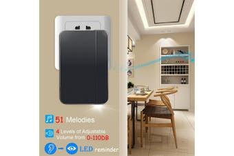 K06 Self-powered Wireless Doorbell Waterproof No Battery Smart Home Door Bell Chime 1 Transmitter 1 Receiver