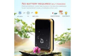 K09 Wireless DoorBell Self-powered Night Light Sensor Waterproof No Battery Home Door Bell 1 Transmitter 1 Receiver