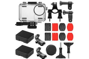 40M Waterproof Protective Case Shell Bicycle Mount Sticker Kit for DJI OSMO Action Sports Camera Cycling