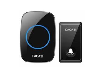 FA60 Wireless Doorbell Self-powered Waterproof Intelligent Home Door Ring Bell Receiver Transmitter BLACK