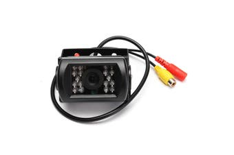 Waterproof 12V-24V CCD 18-IR-LEDs Night Vision Rear View Reverse Camera For Car Bus Truck Trailer