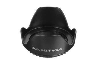 3Pcs Universal DCII 52mm Screw Mount Flower Lens Hood For Canon Nikon DSLR Digital Camera Video