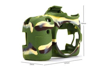 Silicone Rubber Protector Bag Body Cover Case Skin For Canon 70D Camouflage