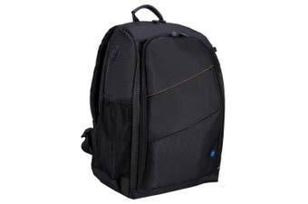 PU5011 Outdoor Portable Waterproof Scratch-proof Dual Shoulders Backpack Camera Bag BLACK