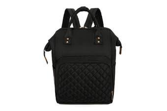 Waterproof Mummy Backpack Outdoor Nappy Diaper Bag Travel Baby Nursing Bag Handbag BLACK