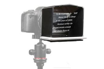 T1 Smartphone Teleprompter for Canon for Nikon for Sony Camera Photo Studio DSLR Camera for Youtube Interview