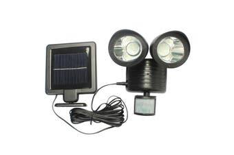 22 LED Solar Powered Double Head Motion Sensor White Light Wall Lamp Outdoor Security Flood Light