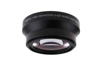 Universal 67mm 0.43X Wide Angle Lens with Macro Lens for DSLR Camera
