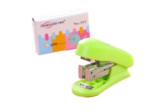 Creative Colored Mini Stapler Staples Set Kawaii Office Stationery Paper Binder School Supplies Students Gifts GREEN