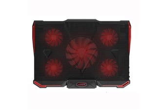 """5 Fans Laptop Cooler Mat Stand Tilt For 12""""-17"""" Inch Notebook Cooling Pad Gaming Laptop Stand"""