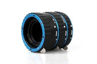Colorful Metal AF Macro Extension Tube Ring For Canon EOS EF EF-S BLUE