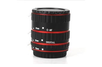 Colorful Metal AF Macro Extension Tube Ring For Canon EOS EF EF-S RED
