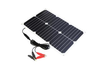 12V 18W Portable Solar Battery Car Charger For Car Battery Automobile Motorcycle Boat