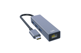 CHB002 3 Ports USB Hub with RJ45 100Mbps Ethernet Port USB2.0 Extender Extension Connector Adapter for PC Laptop