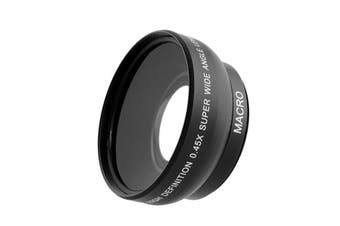 0.45x 52mm Super Fisheye Wide Angle Fixed Focus Lens For Canon Nikon Pentax Sony Minolta With 18-55m