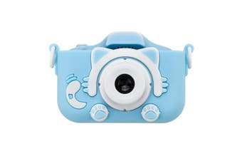 X5S 2000W HD 1080P Dual Lens Digital Child Kids Camera Video Recorder Camcorder BLUE