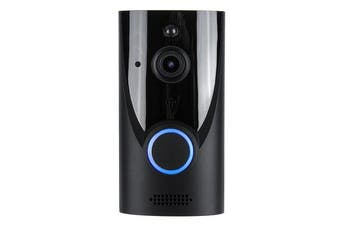 Wireless WiFi Video Doorbell Camera Intercom IR Smart Home Security Door Bell BLACK