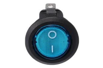 12V 16A Car Boat Rocker Switch ON/OFF SPST LED Lamp Dash blue