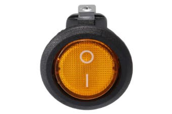 12V 16A Car Boat Rocker Switch ON/OFF SPST LED Lamp Dash yellow