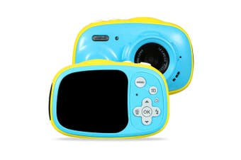 3M Waterproof 5MP 6X Zoom 2 Inch Screen Mini Children Kids Digital Camera BLUE