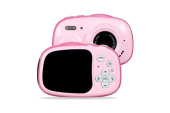 3M Waterproof 5MP 6X Zoom 2 Inch Screen Mini Children Kids Digital Camera PINK