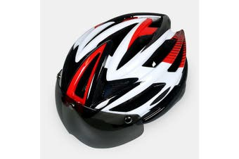 Bike Bicycle Helmet With Back Light Breathable Ventilation Ultralight Shock Proof Cycling MTB Helmet For Adults Men Women RED