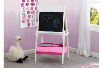 Delta Children MySize Double Sided Activity Easel - White / Pink