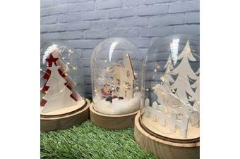 Christmas Light Glass Domes - Set of 3