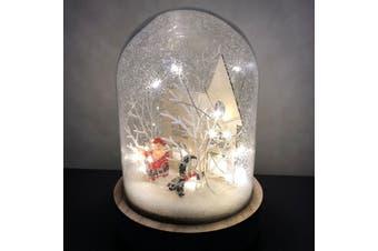 Light Glass Dome - Christmas Scene 17cm