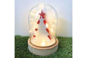 Light Glass Dome - Christmas Trees 17cm