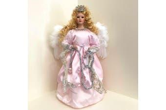 Angel Pink Tree Topper 35cm