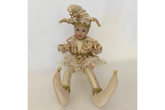 Gold Jester Doll Musical Windup