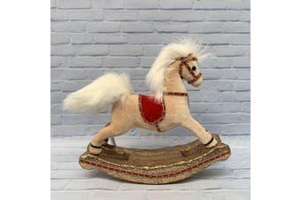 Rocking Horse 26cm Cream
