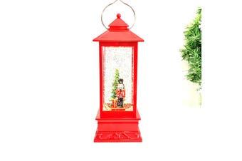 Red Lantern with Nutcracker