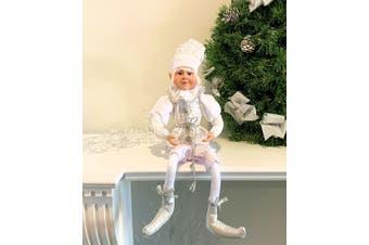 White Elf Boy Posable 45cm