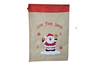 Vintage Sack Love from Santa 69cm