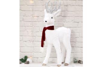 Plush Reindeer 80cm Red Scarf