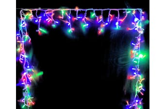 Icicle Lights MULTICOLOUR 4.8m Extendable with Con