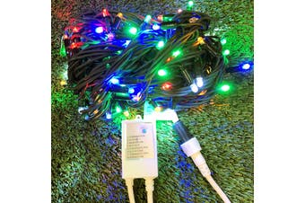 String Lights MULTICOLOUR 10m Green wire with Controller