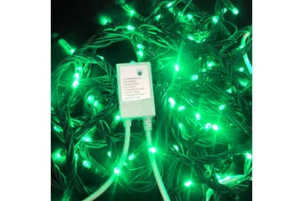 String Lights GREEN 10m Green wire with Controller