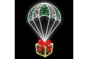 Parachuting Present Gold Christmas Rope Light Moti