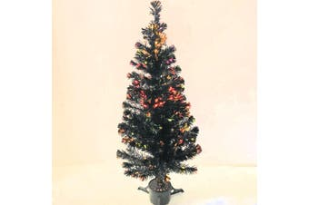 Christmas Tree Black Fibre Optic Lights 1.5m