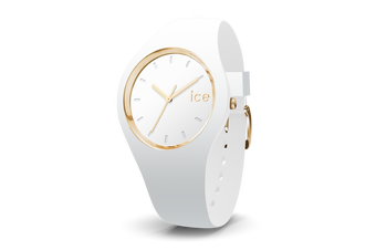 Glam Collection White/Gold Watch with White Dial By ICE