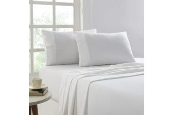Park Avenue 175 GSM Egyptian Cotton Flannelette Sheet Sets Mega Queen White