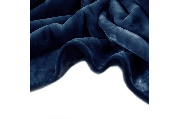 Renee Taylor 700GSM 2 ply 220x240 cms Mink Blanket Indigo