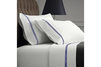 Renee Taylor Signature 1000 Thread count Egyptian Cotton sheet sets Queen Royal on White