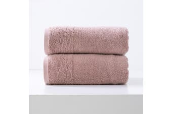 Renee Taylor Aireys 650 GSM Zero Twist 2 Pack Bath Sheet Cherwood