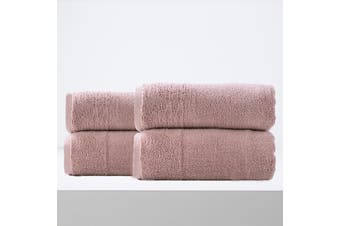 Renee Taylor Aireys 650 GSM Zero Twist 4 Pack Bath Sheet Cherwood